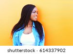 fashion portrait happy smiling... | Shutterstock . vector #614337902