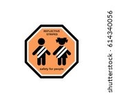 vector.  safety clothing with... | Shutterstock .eps vector #614340056