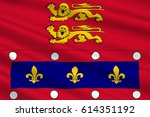 flag of orne is a department in ... | Shutterstock . vector #614351192