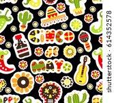 seamless pattern. mexican... | Shutterstock .eps vector #614352578
