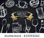 restaurant menu design. vector... | Shutterstock .eps vector #614353262