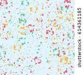 ink splashes seamless pattern.... | Shutterstock .eps vector #614361185