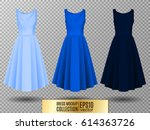 women's dress mockup collection.... | Shutterstock .eps vector #614363726