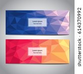 vector set banner abstract... | Shutterstock .eps vector #614370992