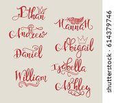 A Set Of Calligraphic Names ...