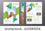 business brochure or flyer... | Shutterstock .eps vector #614385056