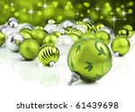 Green Christmas Ornaments With...