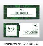 gift voucher template for spa ... | Shutterstock .eps vector #614401052