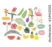 summer set vector | Shutterstock .eps vector #614410202