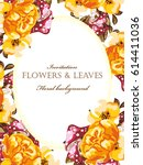 romantic invitation. wedding ...   Shutterstock .eps vector #614411036