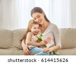happy mother's day  child... | Shutterstock . vector #614415626