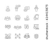 business and people icons set... | Shutterstock .eps vector #614415875