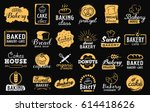 bakery logotypes set. bakery... | Shutterstock .eps vector #614418626