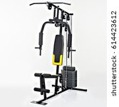 a home exercise machine. | Shutterstock . vector #614423612