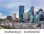calgary downtown in winter ... | Shutterstock . vector #614426252