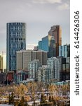 calgary downtown in winter ...   Shutterstock . vector #614426306