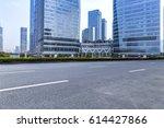 empty floor with modern... | Shutterstock . vector #614427866