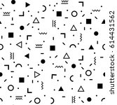 geometric vector pattern with... | Shutterstock .eps vector #614431562