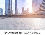 empty floor with modern... | Shutterstock . vector #614434412