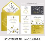 template rustic wedding... | Shutterstock .eps vector #614435666