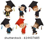 Happy Graduated Kids.vector An...
