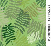 tropical seamless pattern with... | Shutterstock .eps vector #614442716