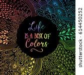 detailed doodle frame made of... | Shutterstock .eps vector #614450252