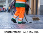 Cleaner On Wenceslas Square In...