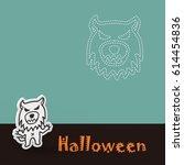 halloween poster   Shutterstock . vector #614454836