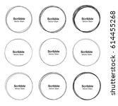 set of 9 vector hand drawn... | Shutterstock .eps vector #614455268