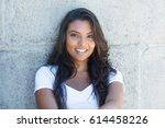 beautiful latin american woman... | Shutterstock . vector #614458226