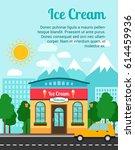 ice cream advertising banner...   Shutterstock .eps vector #614459936