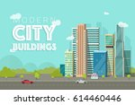 buildings city illustration ... | Shutterstock . vector #614460446