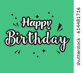 happy birthday logo vector... | Shutterstock .eps vector #614481716