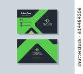 modern black and green business ... | Shutterstock .eps vector #614484206