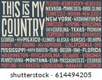 poster of united state of... | Shutterstock . vector #614494205
