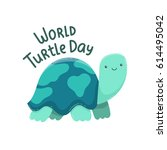 may 23   world turtle day | Shutterstock .eps vector #614495042