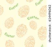 yellow and orange seamless...   Shutterstock . vector #614496062
