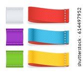 color label fabric blank....   Shutterstock . vector #614497952