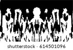 grunge black and white urban... | Shutterstock .eps vector #614501096