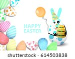 easter cartoon illustration on... | Shutterstock .eps vector #614503838