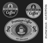 vintage coffee labels | Shutterstock .eps vector #614509046