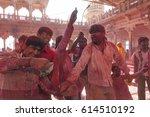 barsana  india march 16  2013 ... | Shutterstock . vector #614510192