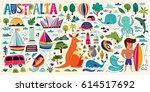 illustration with australia...   Shutterstock .eps vector #614517692