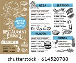 restaurant cafe menu | Shutterstock .eps vector #614520788