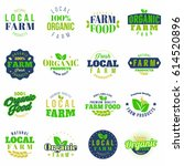 farm  local grown colored ... | Shutterstock .eps vector #614520896