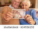 close up of senior's hands...   Shutterstock . vector #614526152