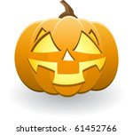 illuminated halloween pumpkin | Shutterstock .eps vector #61452766