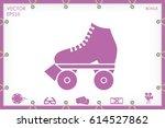 vector illustration of roller... | Shutterstock .eps vector #614527862