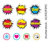 comic wow  oops  boom and wham... | Shutterstock .eps vector #614529392